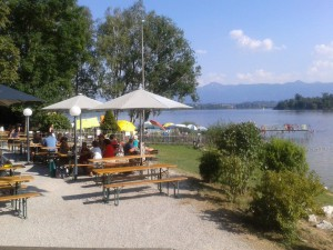 Biergarten in Uffing am Staffelsee